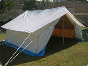 RIDGE TYPE TENT FOR REFUGEES & ZAHRA Industries (PVT) LTD.